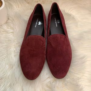 Brooks Brothers Maroon Suede Loafers